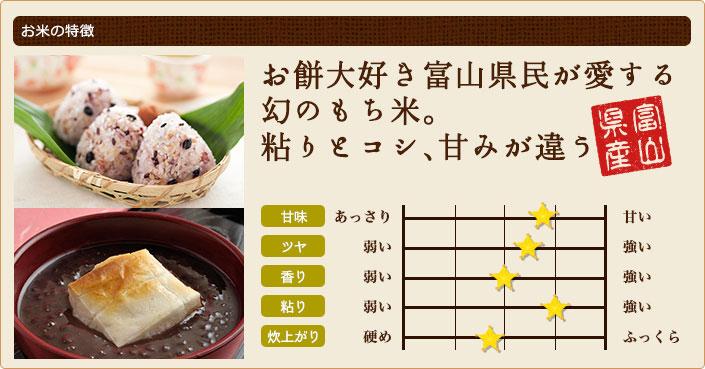 お餅大好き富山県民が愛する幻のもち米。粘りとコシ、甘みが違う